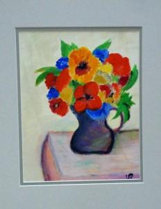 with black vase